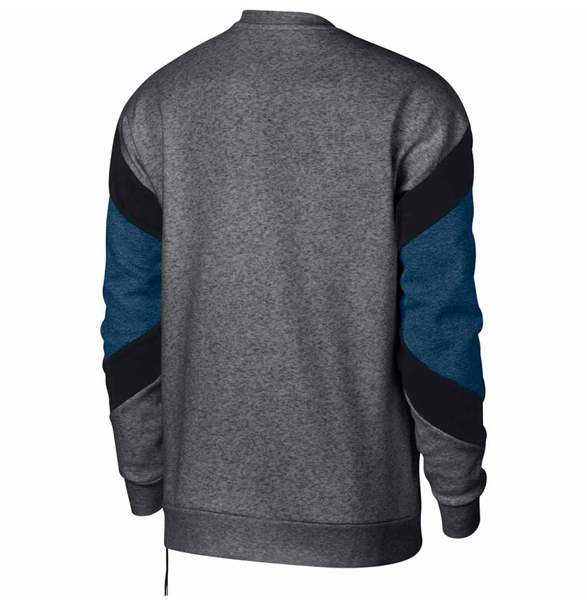 Nike Nsw Air Fleece Crewneck Charcoal Heather/Black/Obsidian Sweats