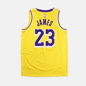 LA Lakers Swingman Jersey Road Lebron James