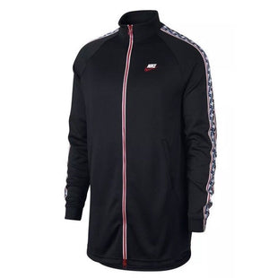 Nike Taped Long Zip Track Jacket Black