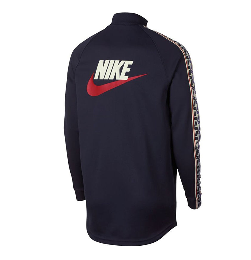 Nike Taped Long Zip Track Jacket Blue