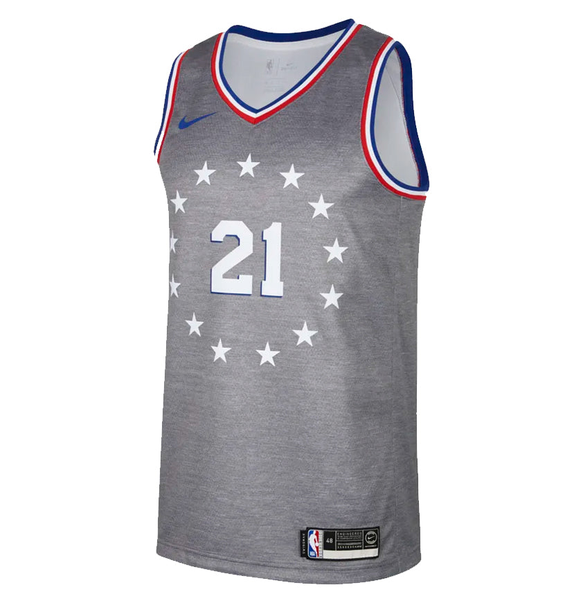 Philadelphia 76ers Swingman Jersey City Edition 18 Joel Embiid