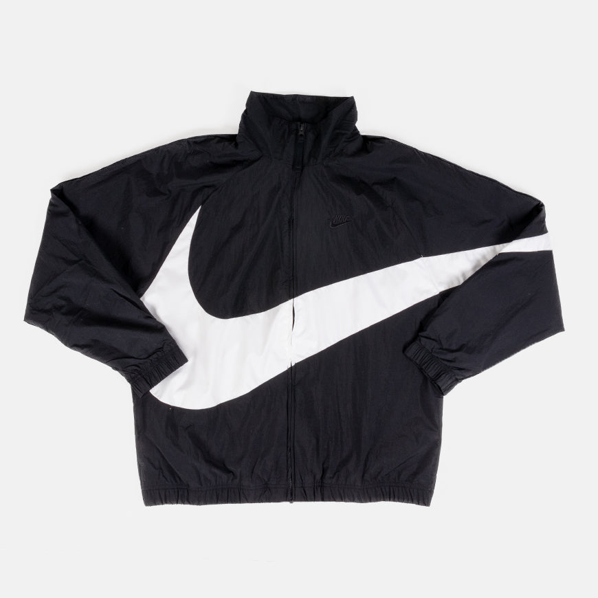 Woven Swoosh Jacket   Black/White