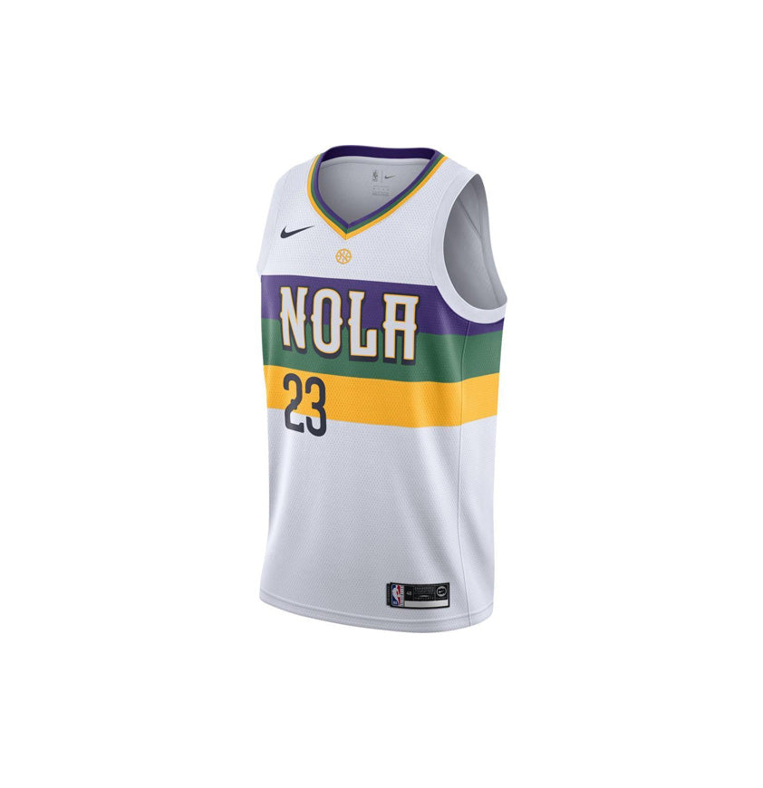 New Orleans Pelicans Swingman Jersey City Edition 18 Anthony Davis