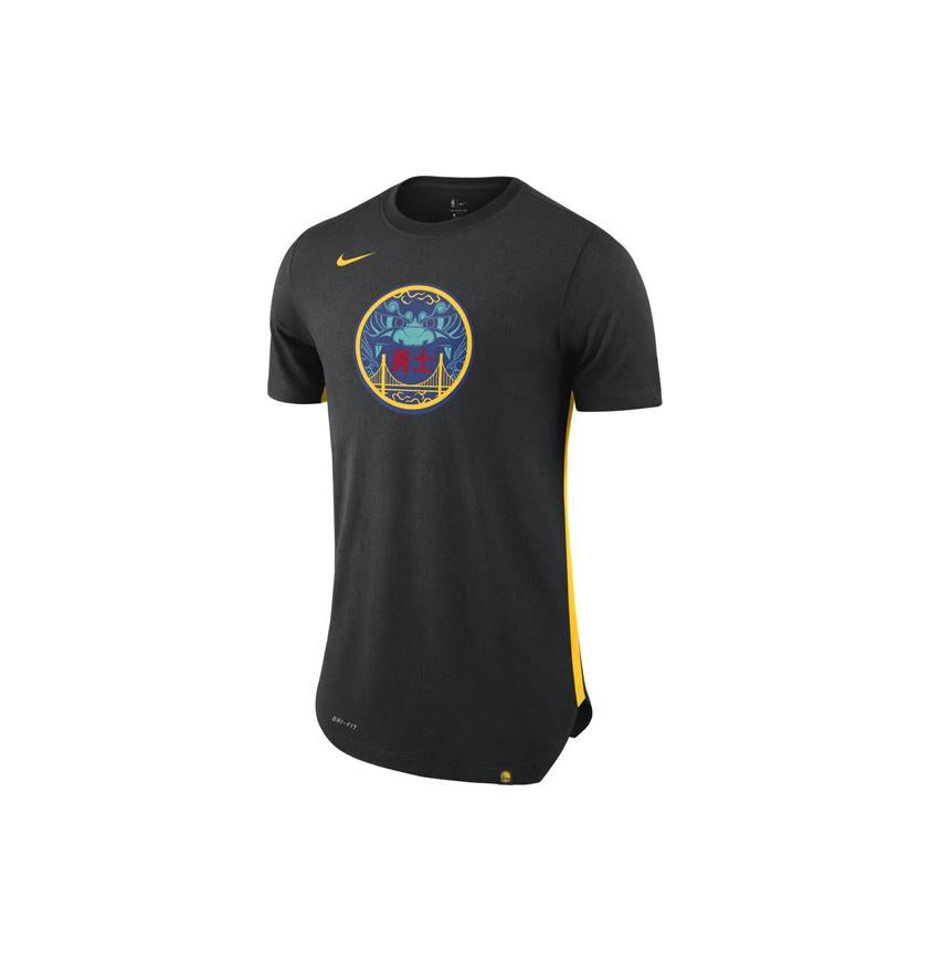 Nike NBA Dri-fit Golden State Warriors City Edition Tee Black