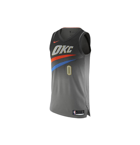 Nike NBA Oklahoma City Thunder Authentic Jersey Russell Westbrook City Edition