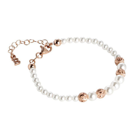 Bracelet rosato with Swarovski beads degradè and diamond loops