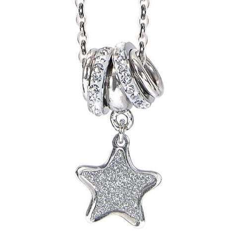 Necklace with a pendant glitterato star