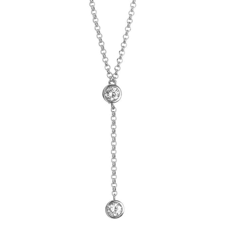 Cravattino necklace with zircon initial and final