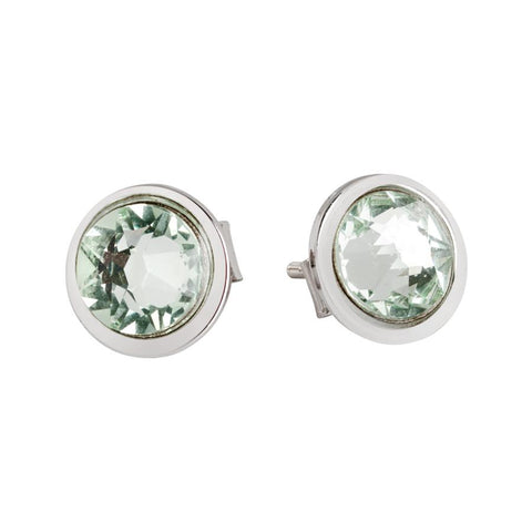Earrings with chrysotile Swarovski Crystals