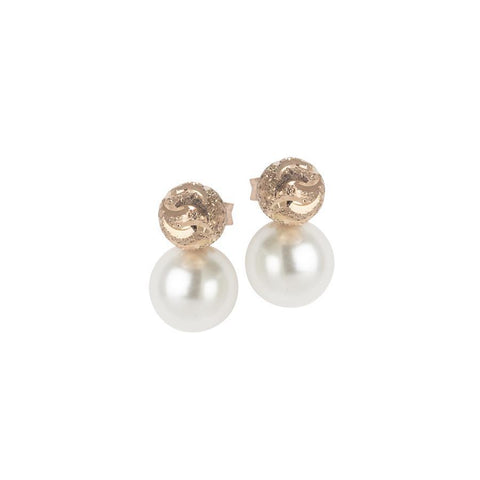 Earrings rosati lobe with Swarovski Pearl and diamond throttle