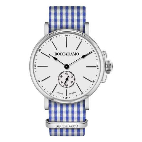 Clock with sartorial strap fantasy Vichy