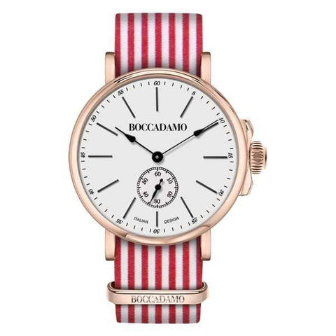 Clock light pink with sartorial strap to rows