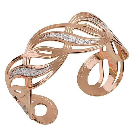 Bracelet rosato with glitterate surfaces in the shape of a node d'amore