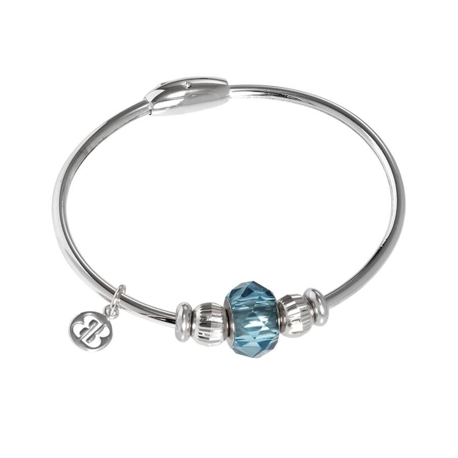 Bracelet with passing in Swarovski Crystal indicolite