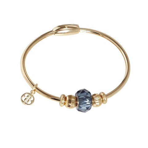 Bracelet with passing in Swarovski Crystal blue Montana