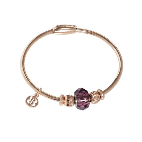 Bracelet with passing in Swarovski Crystal amethyst