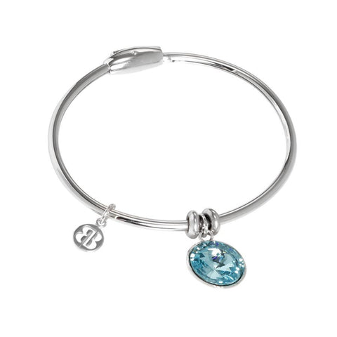 Bracelet with charm in Swarovski crystal turquoise