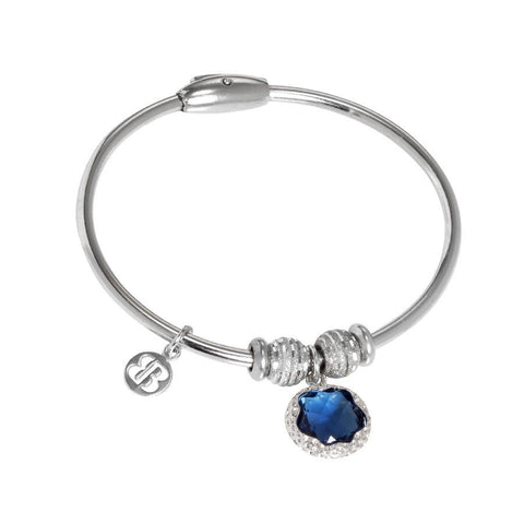 Bracelet with charm in Crystal blue London