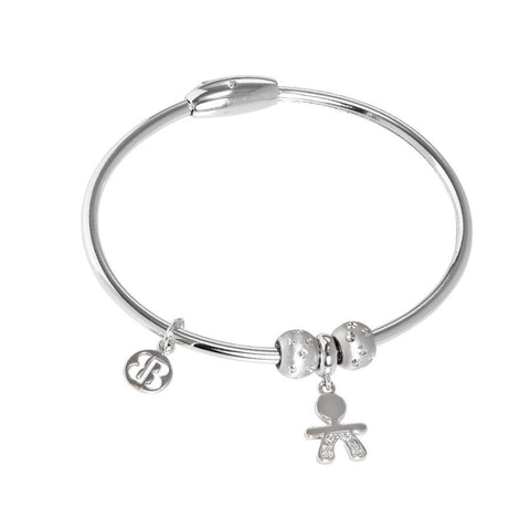 Bracelet with charm in the shape of a kid in zircons