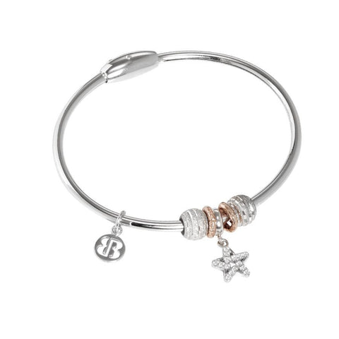 Bracelet with charm in the form of a star and zircons