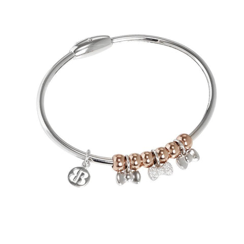 Bracelet with charm in the form of flakes