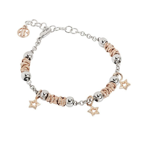 Bracelet beads with stars rosate