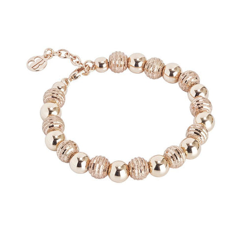 Bracelet rosato with smooth Pearls and Diamond
