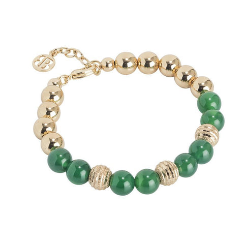 Golden Bracelet with agate green