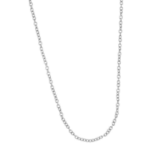 Modular necklace rhodium plated