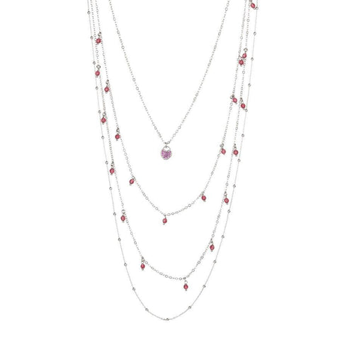 Multi-Strand necklace degradè with Swarovski and zircons