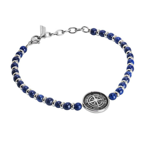 Bracelet with blue agate and Rosa dei ventiÂ
