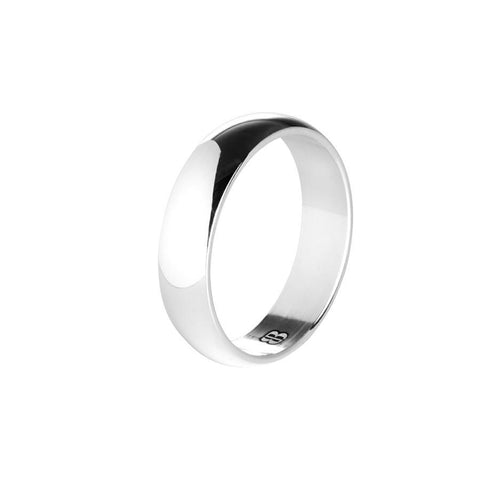 Mantuan silver ring with a narrow surface