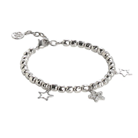 Bracelet beads with charms star and zircons