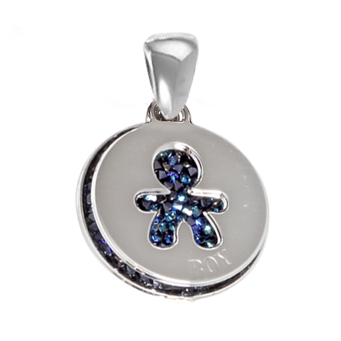 Charm with carpet Swarovski Cristal rock bermusa blue