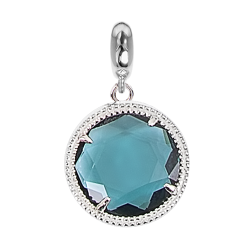 Charm in Faceted crystal blue London
