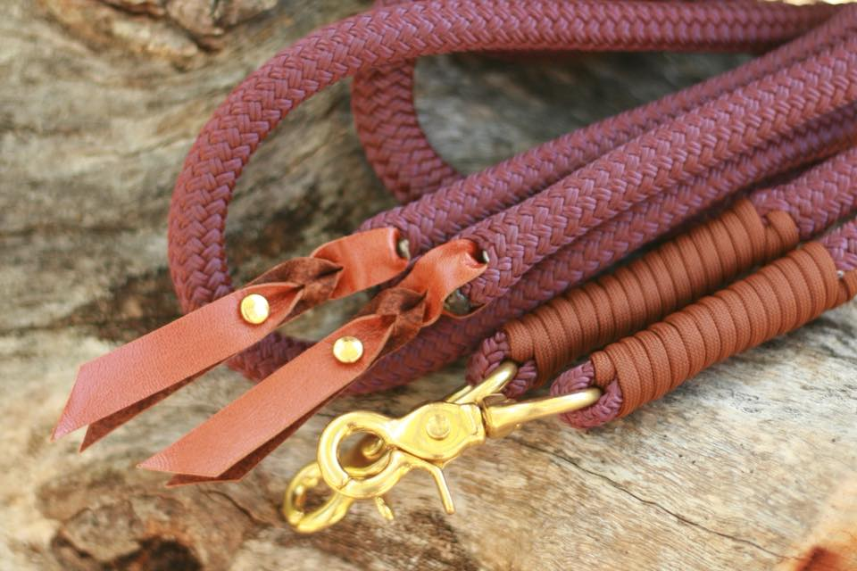 Split Reins - Burgundy/Chocolate