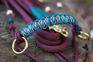 3in1 Bitless Bridle; Burgundy/Teal
