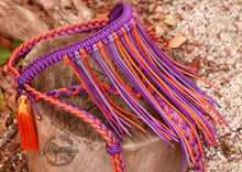 Load image into Gallery viewer, Fairytale Bridle - Purple/Orange with Fringe