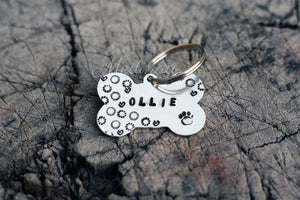 ID Tag - Dog Bone - Circles