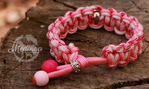 Paracord Bracelet; Bubble Gum