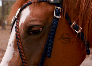 Aria Bridle - Navy, chocolate