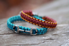 Load image into Gallery viewer, IN STOCK Macrame Bracelet; Turquoise Horse Bit