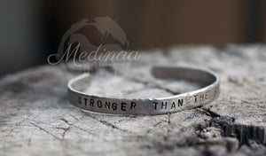 Cuff Bracelet; Stronger than the Storm