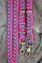 Load image into Gallery viewer, IN STOCK Braided Reins - Berry Punch - 8ft