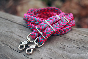 IN STOCK Braided Reins - Berry Punch - 8ft