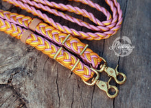 Load image into Gallery viewer, IN STOCK Braided Reins - Happiness