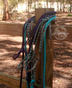IN STOCK Rope Halter and 8ft Lead Rope - Grey - Cob