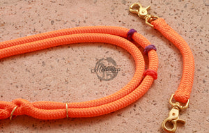 Fairytale Bridle Set with Reins and Cordeo; Purple, lilac, orange