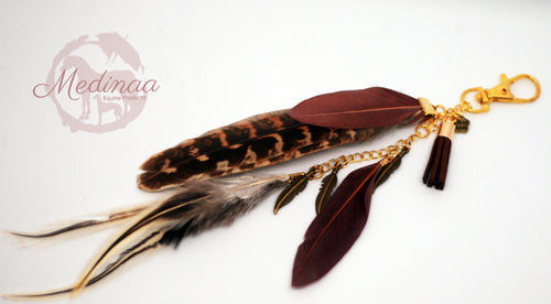 Feather Clip-on; Burgundy