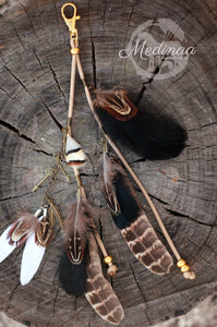 Feather Clip-on - Earthy